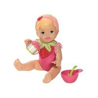 Boneca Little Mommy Momentos Do Bebê Comidinha Moranguinho Mattel