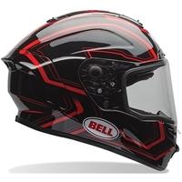 Capacete Moto Bell Star Tri-Matrix Pace Black Red