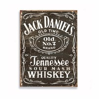Placa De Metal Tecnolaser Jack Daniels Madeira