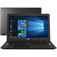 "Notebook Acer Aspire 3 A315-53-34Y4 i3-8130U 4GB 1TB 2.2GHz LED 15,6"" Windows 10 Preto"