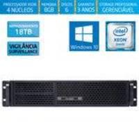 Servidor-storage Silix X1200r Intel Xeon E3 V6 3.0 Ghz / 8gb / 18tb Vigilância / Raid / Win 10 Pro