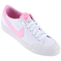 ... 18414e74d23 Tênis Nike All Court Canvas Low Feminino Branco e Rosa  JáCotei ... ee28482288ab6