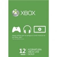 Cartão Xbox Live Gold 12 Meses Microsoft