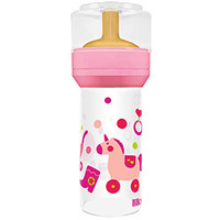 Mamadeira Lillo Super Divertida Látex +6 Meses Rosa 260ml