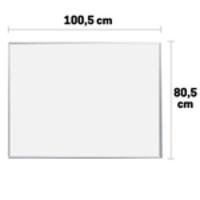 Lousa Quadro Branco Marcador Moldura Em Alumínio 100X80cm