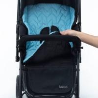Carrinho De Bebê Reversível Voyage Azul e Preto