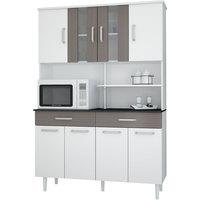 Kit Cozinha Madine Atenas New 8 Portas Branco e Cilégio