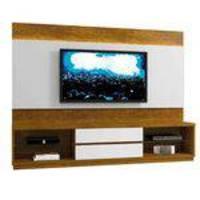 Estante Home Theather p/ TV até 65 Polegadas Istambul - Mavaular Mel/Branco