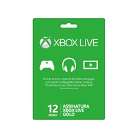 Live Card Microsoft 12 Meses Gold Xbox 360