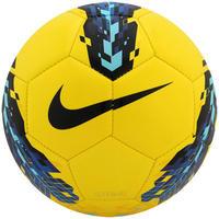 587cb41f29 Bola de Futebol de Campo Nike Strike 5 Hi-Vis Amarela e Roxa