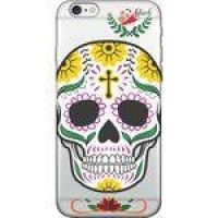 Capa Para Celular Iphone 8 Plus - Spark Cases - Caveira Florida Amarela