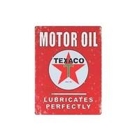 Placa De Metal Tecnolaser Motor Oil Texaco