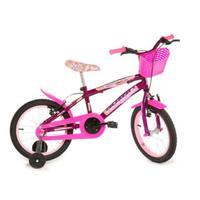 Bicicleta Infantil Rharu Tech Aro 16 Violeta