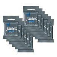 Kit Jontex Preservativo Lubrificado Sensitive C/3 - 12 Unid.