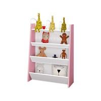 Porta Brinquedos Teco Móveis Estrela Branco E Rosa
