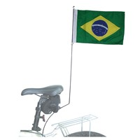 Bandeira do Brasil Para Cicloturismo Pró Bike 0119A Verde