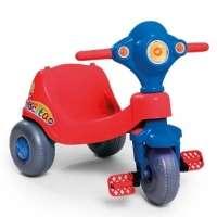 Carrinho Infantil Velocita Com Aro Protetor Vermelho Azul 958 Calesita