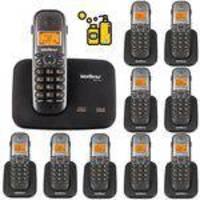 Aparelho De Telefone Fixo Sem Fio 2 Linhas Com Bina 9 Ramal