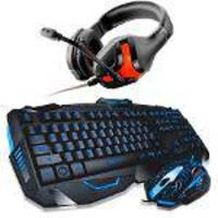Kit Gamer Teclado E Mouse Gamer Multilaser Lightning Tc195 + Headset Warrior Ph101 Preto
