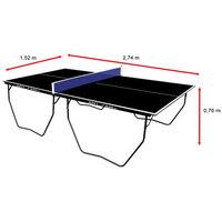 Mesa De Ping Pong Tênis De Mesa Klopf Oficial Black Edition 15 Mm
