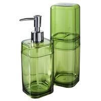 Conjunto para Banheiro Coza Splash 99182/7009 Verde 2 peças
