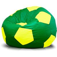 Puff Phoenix Bola Super em Courino Verde e Amarelo