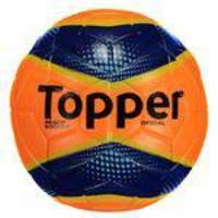 ec237546e4 Bola de Futebol de Campo Topper Oficial Galo Manda Branca e Dourada ...