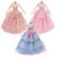 3pcs Moda Roupa De Boneca Formal Vestido De Festa De Casamento Vestidos Completos Para Boneca Barbie