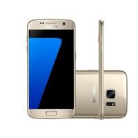 Smartphone Samsung Galaxy S7 SM-G930F Desbloqueado GSM 4G 32GB Single Chip Android 6.0 Dourado