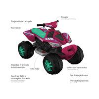 Quadriciclo Elétrico Infantil Bandeirante Super Quad Rosa 2733