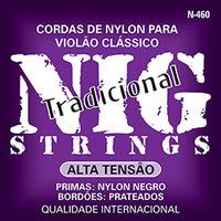 Cordas Nig Strings de Nylon para Violão Jogo Preto e Prata Tensão Alta