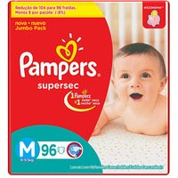 Fralda Pampers Supersec Especial M 96 unidades