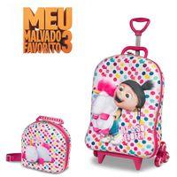 5a75760117 Mochila Escolar Agnes Minions 3D com Rodinhas e Lancheira - Maxtoy