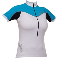 Camisa Flets Sport Ciclismo Manga Curta Feminina Branca