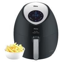 Fritadeira Digital Philco Air Fry com Timer Preta e Inox 110V