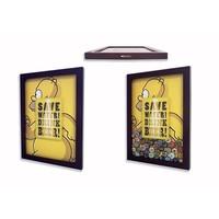 Quadro De Tampinhas Tecnolaser Com Imagem No Vidro Simpson