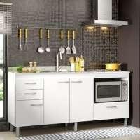 Balcão Para Cozinha Decibal Bm02 Com Espaço Para Forno Branco