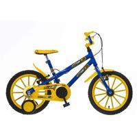Bicicleta Colli Bike MTB Hot Colli 102/18 Aro 16 Azul e Amarelo