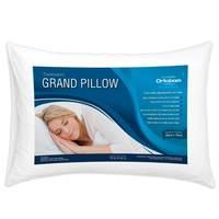 Travesseiro Ortobom Grand Pillow Com Fibra Siliconizada Antiálergico 50x70cm Branco