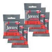 Kit Jontex Preservativo Lubrificado Frutas Vermelhas - 6 Unid.