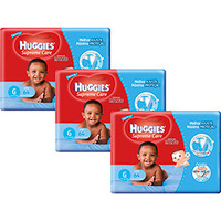 Kit 3 Fraldas Huggies Supreme Care Hiper Menino G 192 Unidades