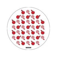 Tábua de Corte Tramontina Vidro Redonda 10399/004 Branco e Vermelho
