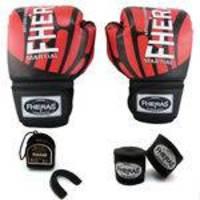 Kit Boxe Muay Thai Top Luva Bandagem Bucal 12 OZ ELITE