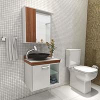 Gabinete para Banheiro Vtec Alpha Premium Cuba e Espelho