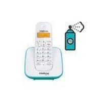 Aparelho Telefone Fixo Sem Fio Digital Com Bina Azul Claro