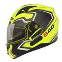 Capacete Moto Bieffe B-40 Tron Amarelo Limão Com Óculos Solar