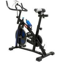 Bicicleta Ergométrica Spinning 8kg com Monitor Preto e Azul