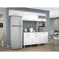Cozinha Compacta Madine Móveis Lorena 5 Portas Branca