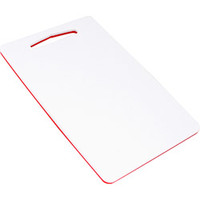 Tábua Komax de Corte Dupla Face Pequena 1,5 x 20 x 30cm Branca e Vermelha