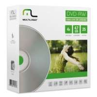 Mídia DVD-RW Multilaser 4.7GB 25 Unidades com Envelopes DV062